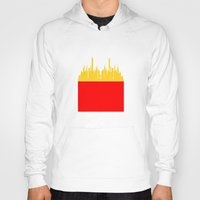 fries Hoodies featuring City Fries by OneWeirdDude