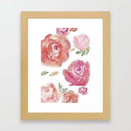 Peonies pink red flowers iPhone-galaxy case Framed Art Print