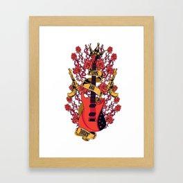 Guns and roses Framed Art Print