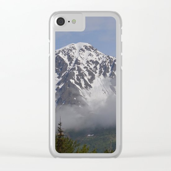 Seward Mountain Fog Clear iPhone Case