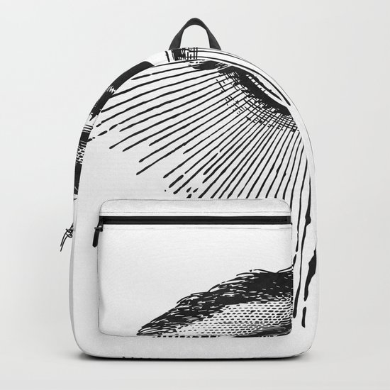 I See You. Black and White Backpack