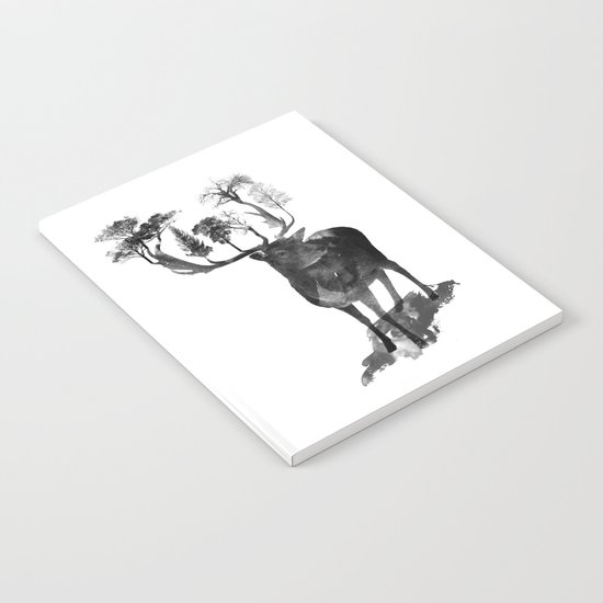 The Black Forest Deer Notebook