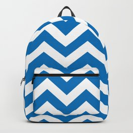 French blue - blue color - Zigzag Chevron Pattern Backpack