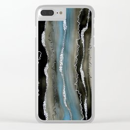 Midnight Vibration Clear iPhone Case