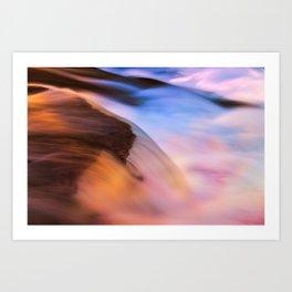Stream of Swallowed Colors Art Print