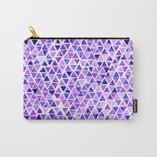 Purple Triangles Pattern 01 Carry-All Pouch