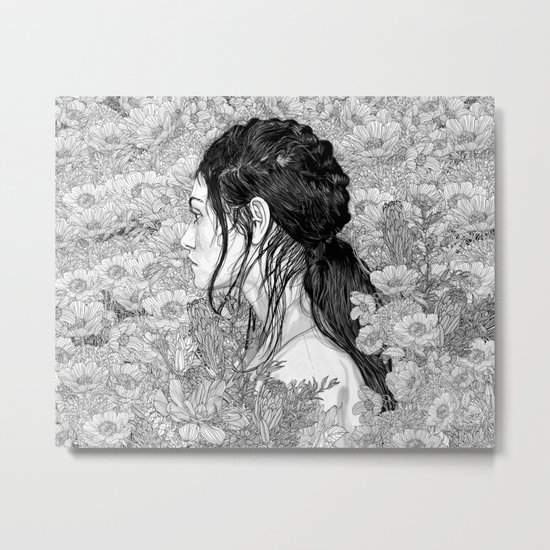 Love is in Beauty and Chaos Metal Print