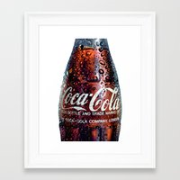 coca cola Framed Art Prints featuring The Real... by LesImagesdeJon
