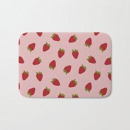 Cute Strawberries Bath Mat