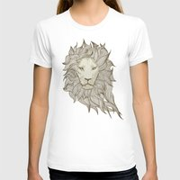 lion T-shirts featuring Lion by Vickn