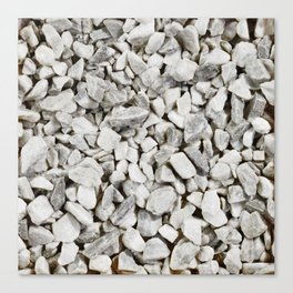 Stone Marble Chips Canvas Print