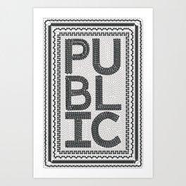 PUBLIC Bike Poster Art Print