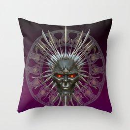 Face of the Demon King .. fantasy art Throw Pillow
