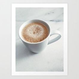 Cafe Crema on Marble Art Print