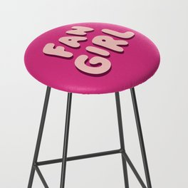 Fangirl in Pink Bar Stool