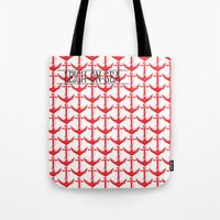 anchors Tote Bags featuring anchors by Cat Milchard