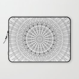 Gray White Mandala Laptop Sleeve