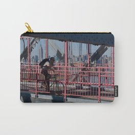 Cyclist on Williamsburg Bridge Carry-All Pouch