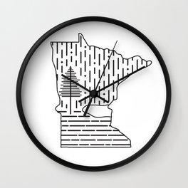 Snow MN (white) Wall Clock