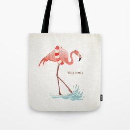 Flamingo - Hello Summer Tote Bag