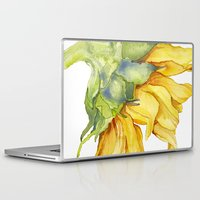 sunflower Laptop & iPad Skins featuring Sunflower by Cindy Lou Bailey