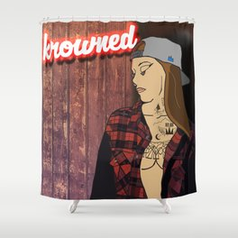N E O N  T A T T O O S Shower Curtain