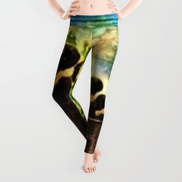 African American Masterpiece 'Lift Up Every Voice & Sing' without gold border Leggings