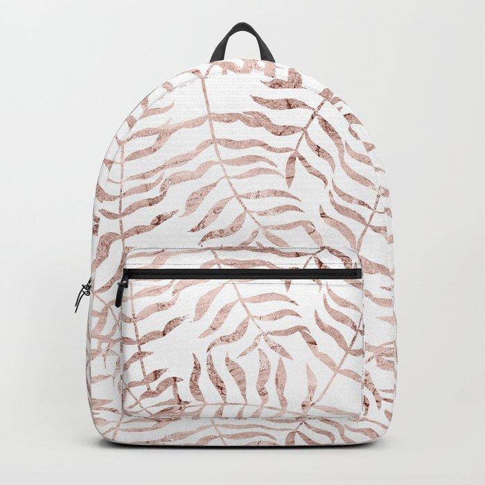 Rose Gold Leaves 1 Backpack