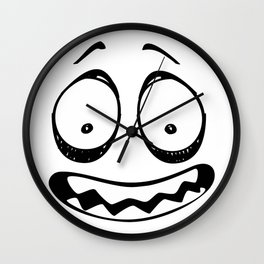 Scare Face Wall Clock