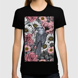 Gray jays and flowers T-shirt