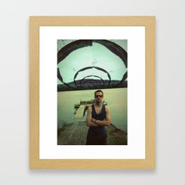 down by the river Framed Art Print