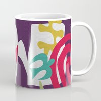matisse Mugs featuring Inspired to Matisse (violet) by Chicca Besso