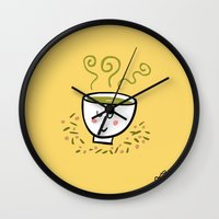 Genmaicha Tea Wall Clock