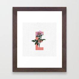 Letter 'E' Monogram Framed Art Print