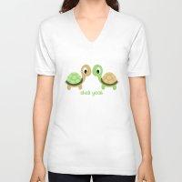 turtles V-neck T-shirts featuring TURTLES by Brittney Weidemann