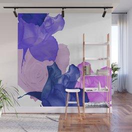 Vibrant Floating Rose Petals Wall Mural