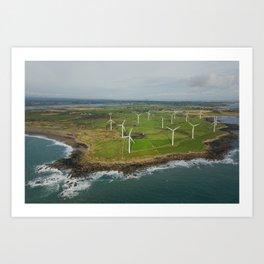Aerial view of Carnsore Wind Farm Art Print