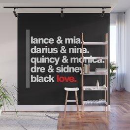 BLACK LOVE. Wall Mural