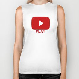 Play Button Biker Tank
