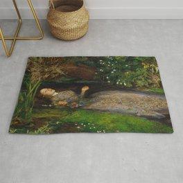 John Everett Millais - Ophelia Rug