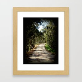 Comin' around the Bend! Framed Art Print