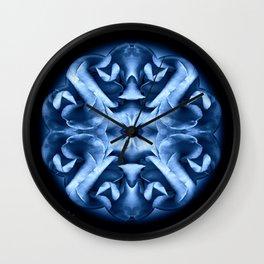 Blue Rose Mandala Wall Clock