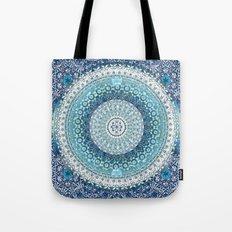 Teal Tapestry Mandala Tote Bag