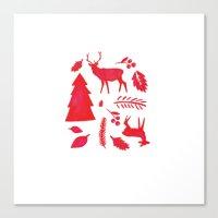 scandinavian Canvas Prints featuring Scandinavian Christmas  by Gaia Cornwall