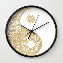 Golden Yin Yang Wall Clock
