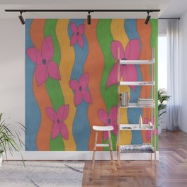 Retro: Flower Power Wall Mural