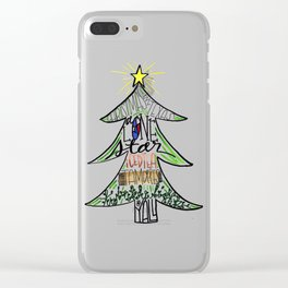 Christmas in Texas Clear iPhone Case