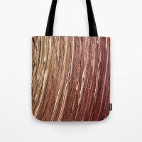 tree rings Tote Bags featuring Rings by Kathy Dewar