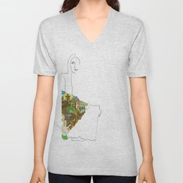 Vectorized Art Design Illustration the Canyon Ladies of  by Illustrated,Mitchell-1970 April Vectored,Joni-46360 Vector Unisex V-Neck