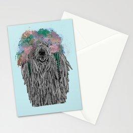 Dredlock Dog (Pastel Blue Edition) Stationery Cards